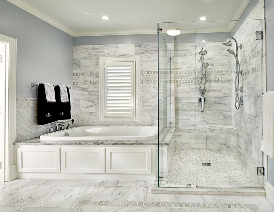 Traditional Master Bath Remodel and Powder Room in University Park
