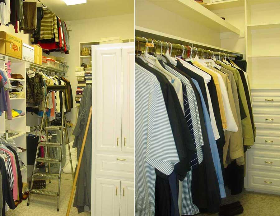 Lucas, Texas Home Addition - Closet BEFORE