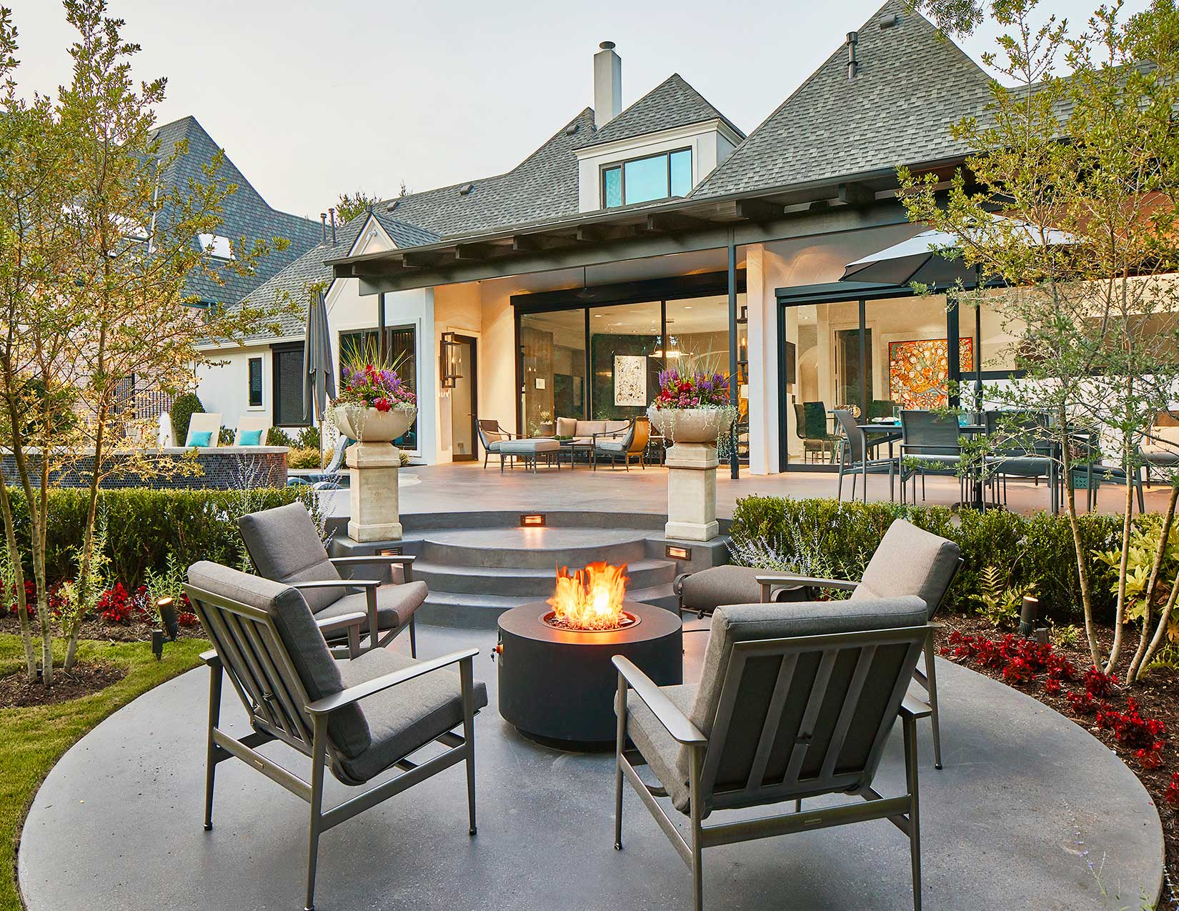 Exterior with Firepit
