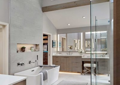 Modern Master Bath and Kids' Bath Remodel on Devonshire Drive in Dallas, TX