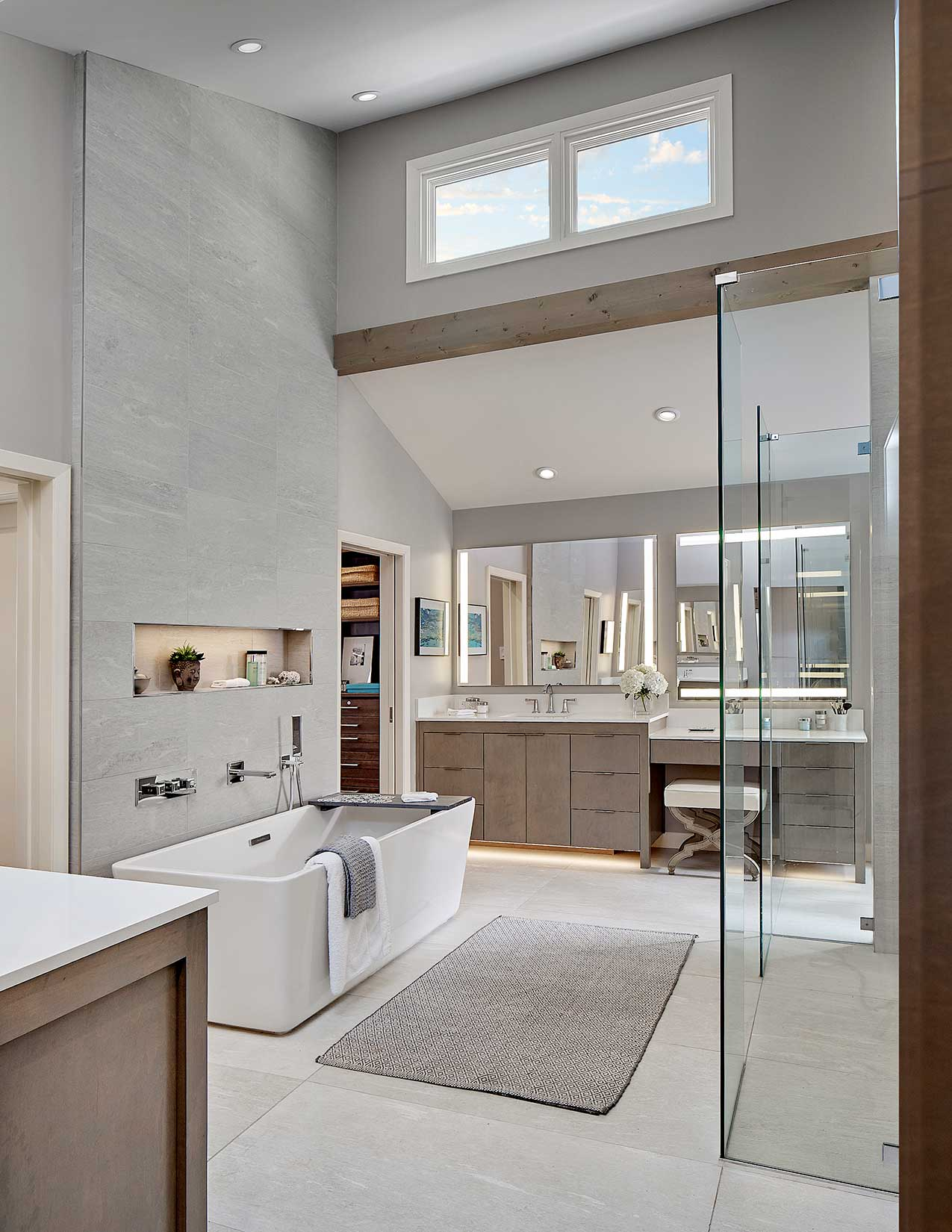 Modern Master Bath and Kids' Bath Remodel on Devonshire ...