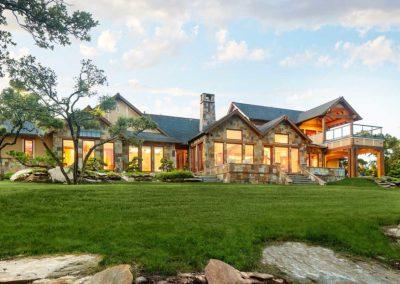 Hill Country Custom Home Exterior