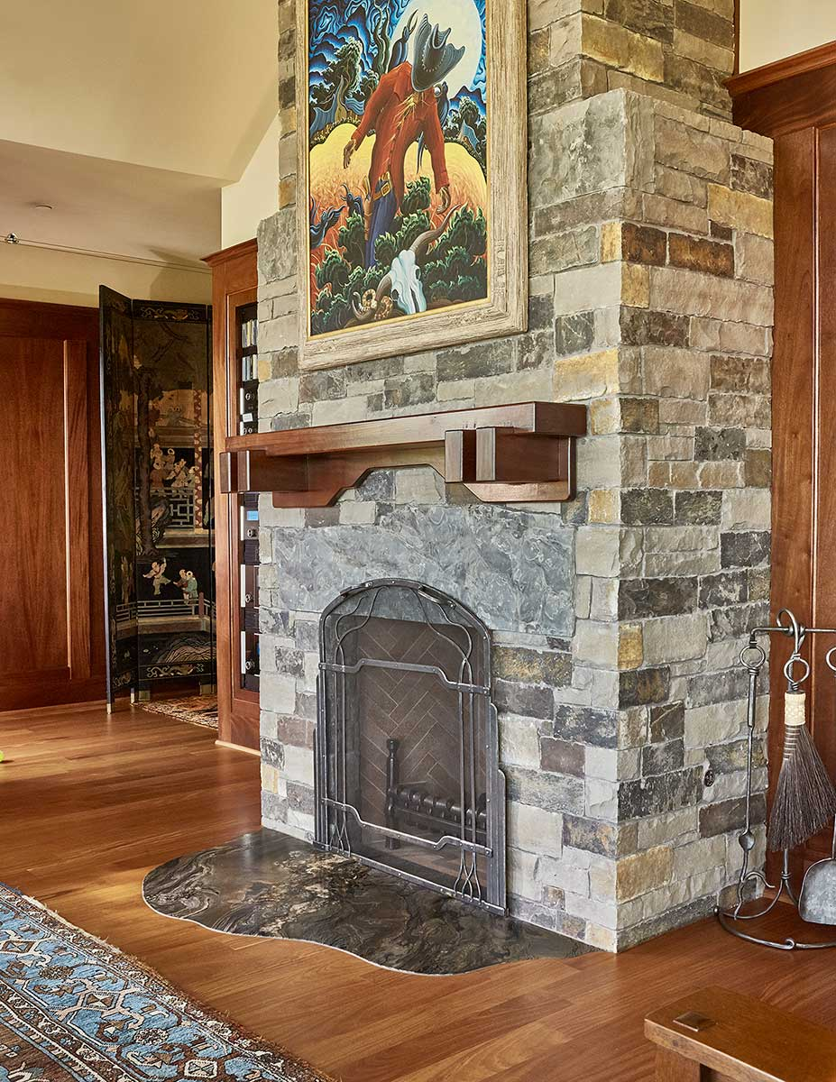 Hill-Country-Custom-Home-Fireplace