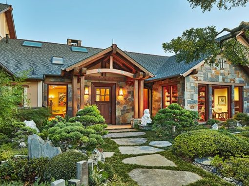 Asian-Inspired Craftsman Style Custom Home in Texas Hill Country