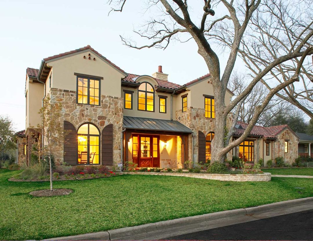 Texas Mediterranean Custom Home in Preston Hollow