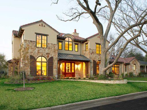 Texas Mediterranean Custom Home in Preston Hollow